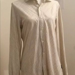 GUESS Vintage Long Sleeve Beige Blouse Size S